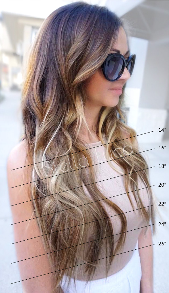 Hair Extensions Length Chart Straight
